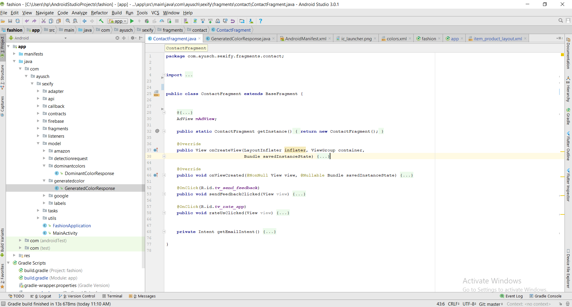 Collapse/Expand Android Studio Shortcut