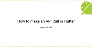 making api call in flutter